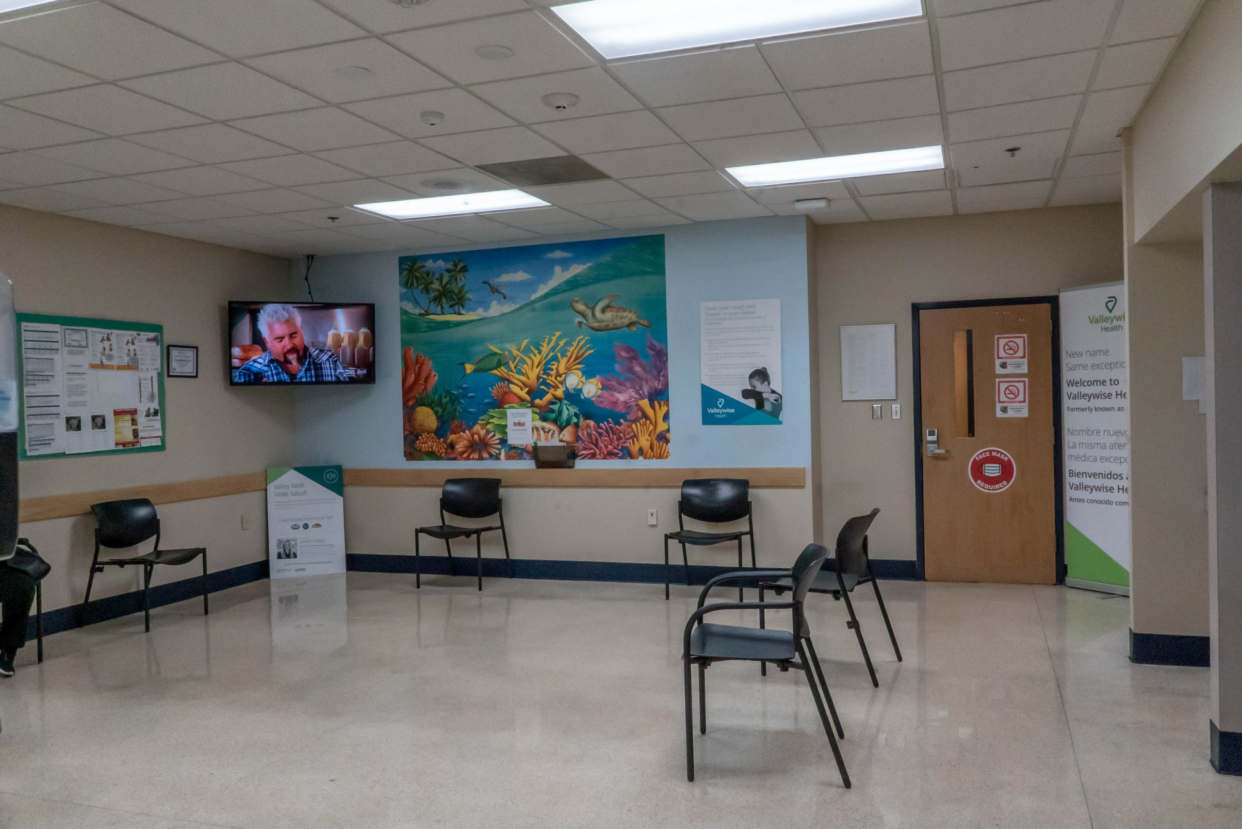 Valleywise Health Center waiting room with 4 chairs